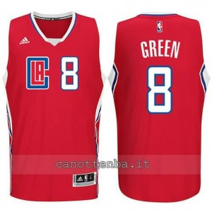 canotte jeff green #8 los angeles clippers 2015-2016 rosso
