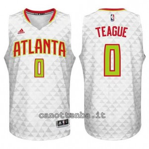 canotte jeff teague #0 atlanta hawks 2015-2016 bianca