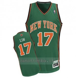 canotte jeremy lin #17 new york knicks verde