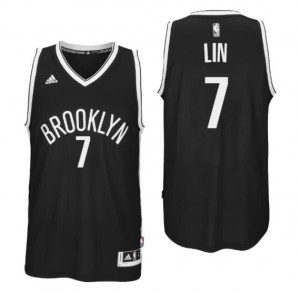 canotte jeremy lin 7 brooklyn nets 2016 nero