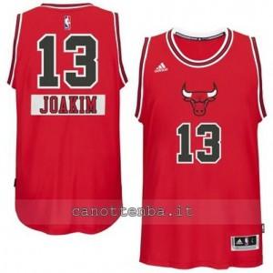canotte joakim noah #13 chicago bulls natale 2014 rosso
