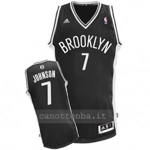 canotte joe johnson #7 brooklyn nets revolution 30 nero