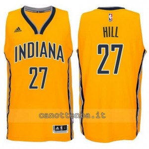 canotte jordan hill #27 indiana pacers 2014-2015 giallo