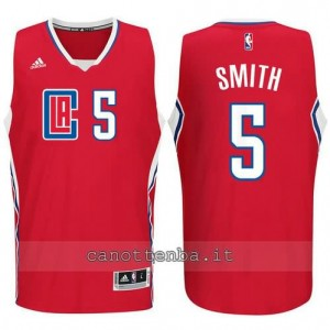 canotte josh smith #5 los angeles clippers 2015-2016 rosso