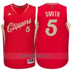 canotte josh smith #5 los angeles clippers natale 2015 rosso