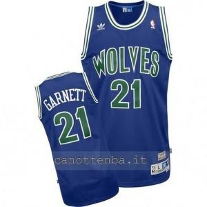 canotte kevin garnett #21 minnesota timberwolves soul blu