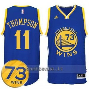 canotte klay thompson #11 golden state warriors 73 wins 2016 blu
