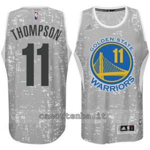 canotte klay thompson #11 golden state warriors lights grigio