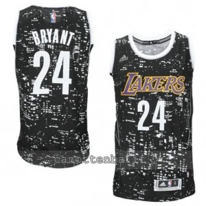 canotte kobe bryant #24 los angeles lakers lights nero
