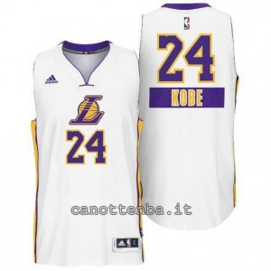 canotte kobe bryant #24 los angeles lakers natale 2014 bianca