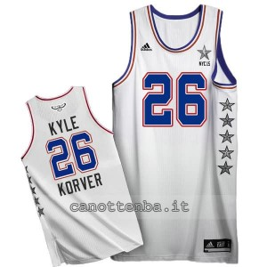 canotte kyle korver #26 nba all star 2015 bianca