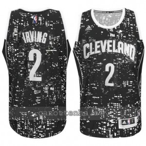 canotte kyrie irving #2 cleveland cavaliers lights nero