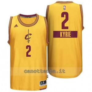 canotte kyrie irving #2 cleveland cavaliers natale 2014 giallo