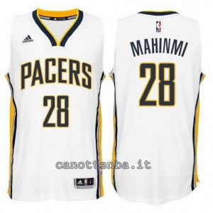 canotte mahinmi #28 indiana pacers 2014-2015 bianca