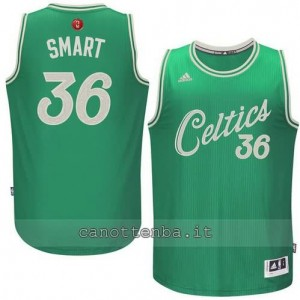 canotte marcus smart #36 boston celtics natale 2015 verde