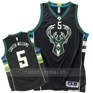 canotte michael carter-williams #5 milwaukee bucks 2015-2016 nero