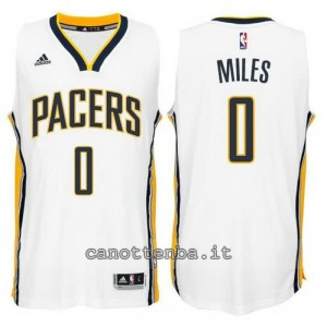 canotte miles #0 indiana pacers 2014-2015 bianca