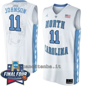 canotte ncaa north carolina tar heels brice johnson #11 bianca
