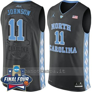 canotte ncaa north carolina tar heels brice johnson #11 nero