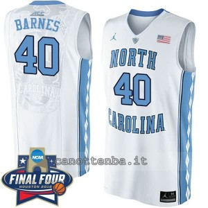 canotte ncaa north carolina tar heels harrison barnes #40 bianca