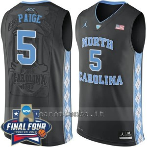 canotte ncaa north carolina tar heels marcus paige #5 nero