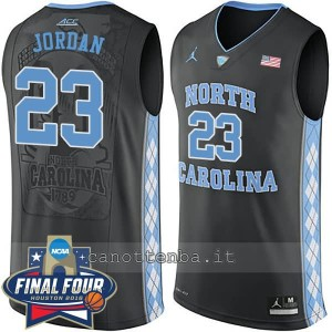 canotte ncaa north carolina tar heels michael jordan #23 nero