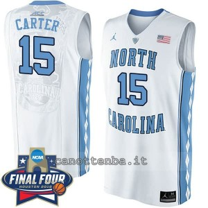 canotte ncaa north carolina tar heels vince carter #15 bianca