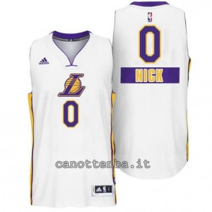 canotte nick young #0 los angeles lakers natale 2014 bianca