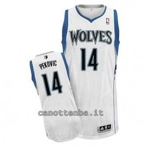 canotte nikola pekovic #14 minnesota timberwolves revolution 30 bianca