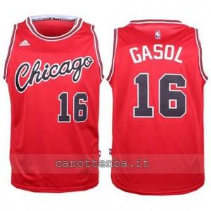 canotte pau gasol #16 chicago bulls 2015-2016 rosso