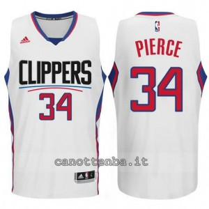 canotte paul pierce #34 los angeles clippers 2015-2016 bianca