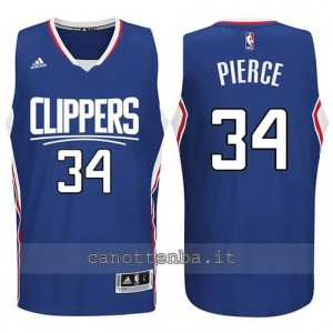 canotte paul pierce #34 los angeles clippers 2015-2016 blu