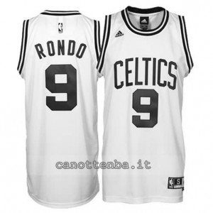 canotte rajon rondo #9 boston celtics revolution 30 bianca