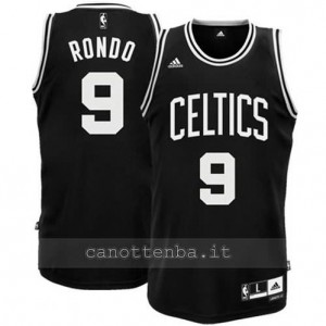 canotte rajon rondo #9 boston celtics revolution 30 nero
