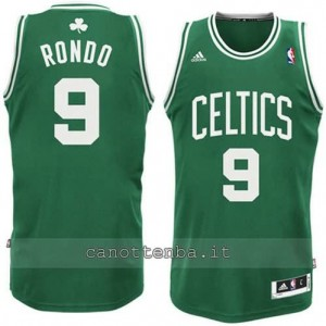 canotte rajon rondo #9 boston celtics revolution 30 verde