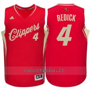 canotte redick #4 los angeles clippers natale 2015 rosso