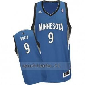 canotte ricky rubio #9 minnesota timberwolves revolution 30 blu