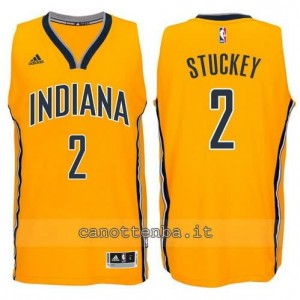 canotte rodney stuckey #2 indiana pacers 2014-2015 giallo