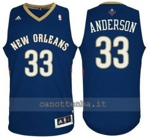 canotte ryan anderson #33 new orleans pelicans revolution 30 blu