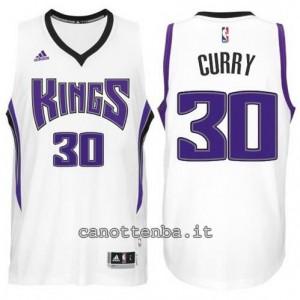 canotte seth curry #30 sacramento kings bianca