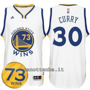 canotte stephen curry #30 golden state warriors 73 wins 2016 bianca