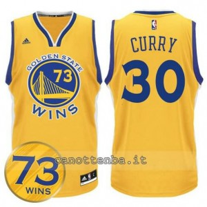 canotte stephen curry #30 golden state warriors 73 wins 2016 giallo