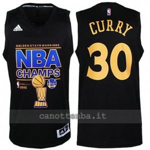canotte stephen curry #30 golden state warriors campioni 2014-15 nero