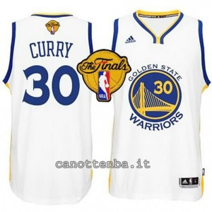 canotte stephen curry #30 golden state warriors finale 2015 bianca