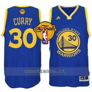 canotte stephen curry #30 golden state warriors finale 2015 blu