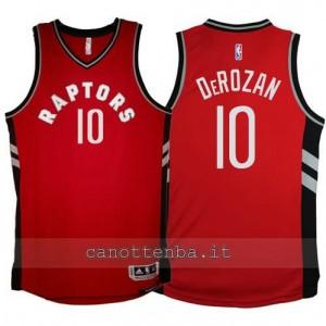 maglia DeMar DeRezan #10 toronto raptors 2015-2016 rosso