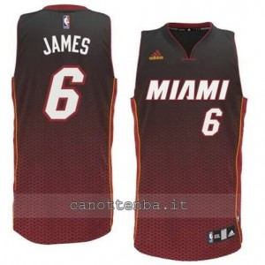 maglia LeBron James #6 miami heat moda resonate