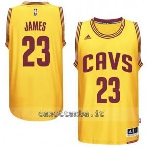 maglia LeBron james #23 cleveland cavaliers 2014-2015 giallo