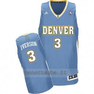 maglia allen iverson #3 denver nuggets revolution 30 blu