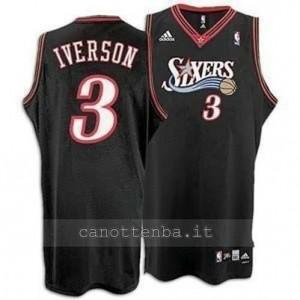 maglia allen iverson #3 philadelphia 76ers soul nero